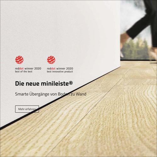 Rewolucyjne mini listwy przypodłogowe zlicowane z podłogą - MINILEISTE